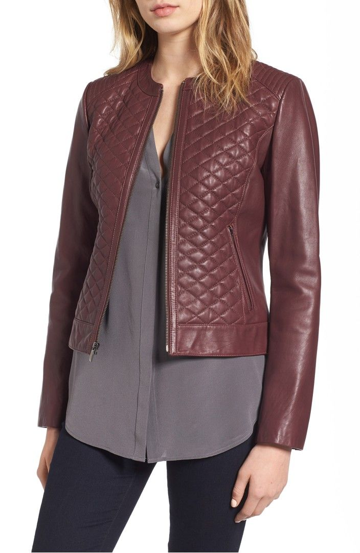 Quilted Leather Moto Jacket Quilted Leather Cole Haan And Nordstrom
