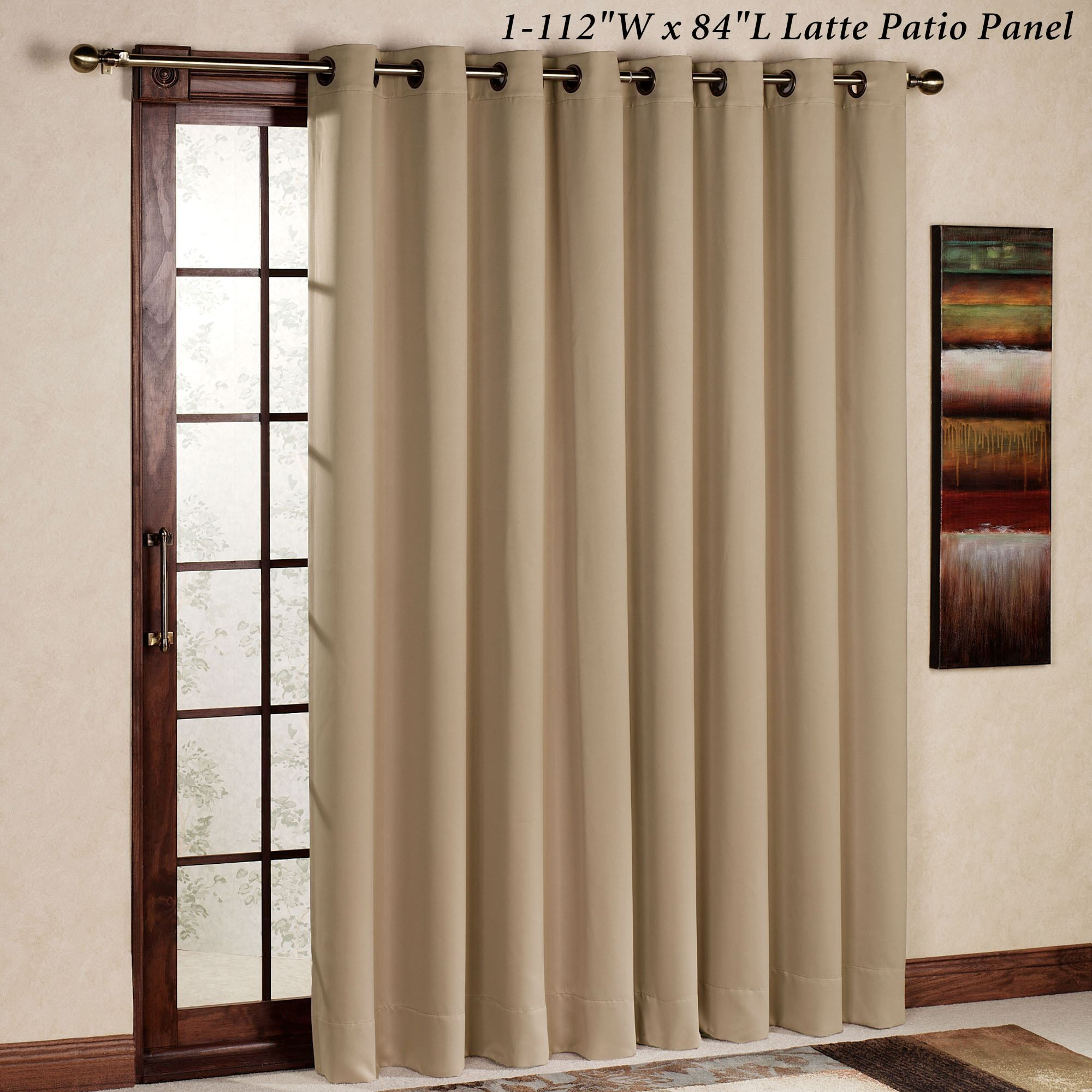 Ultimate Blackout Grommet Patio Panel Sliding Door Curtains