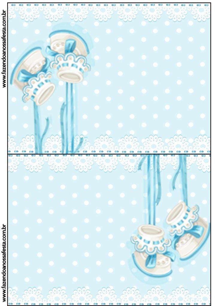 Zapatitos de Bebé: Tarjetería para Imprimir Gratis. - toppers to embelish