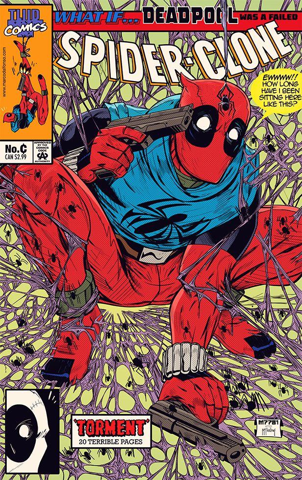 What If Deadpool Was A Spider Clone By M7781 On Deviantart Deadpool Art Deadpool Kills Marvel Universe Deadpool