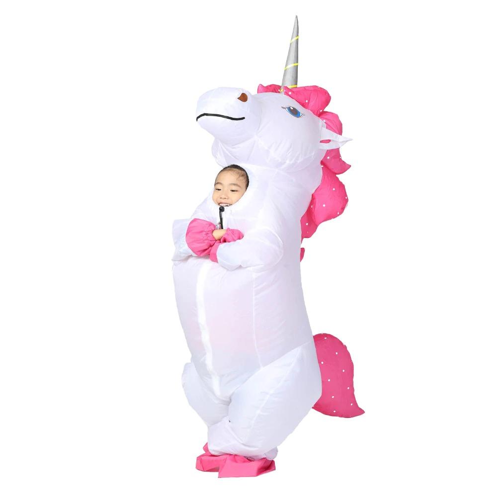 Rainbow Unicorn Inflatable Costume Pony Halloween Costumes Part Cosplay