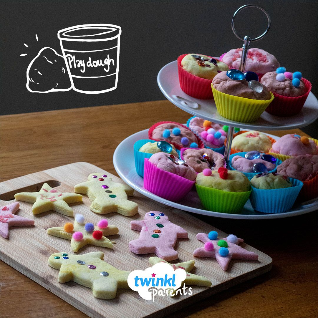 Playdough Cakes and Biscuits in 2020 Cooked playdough