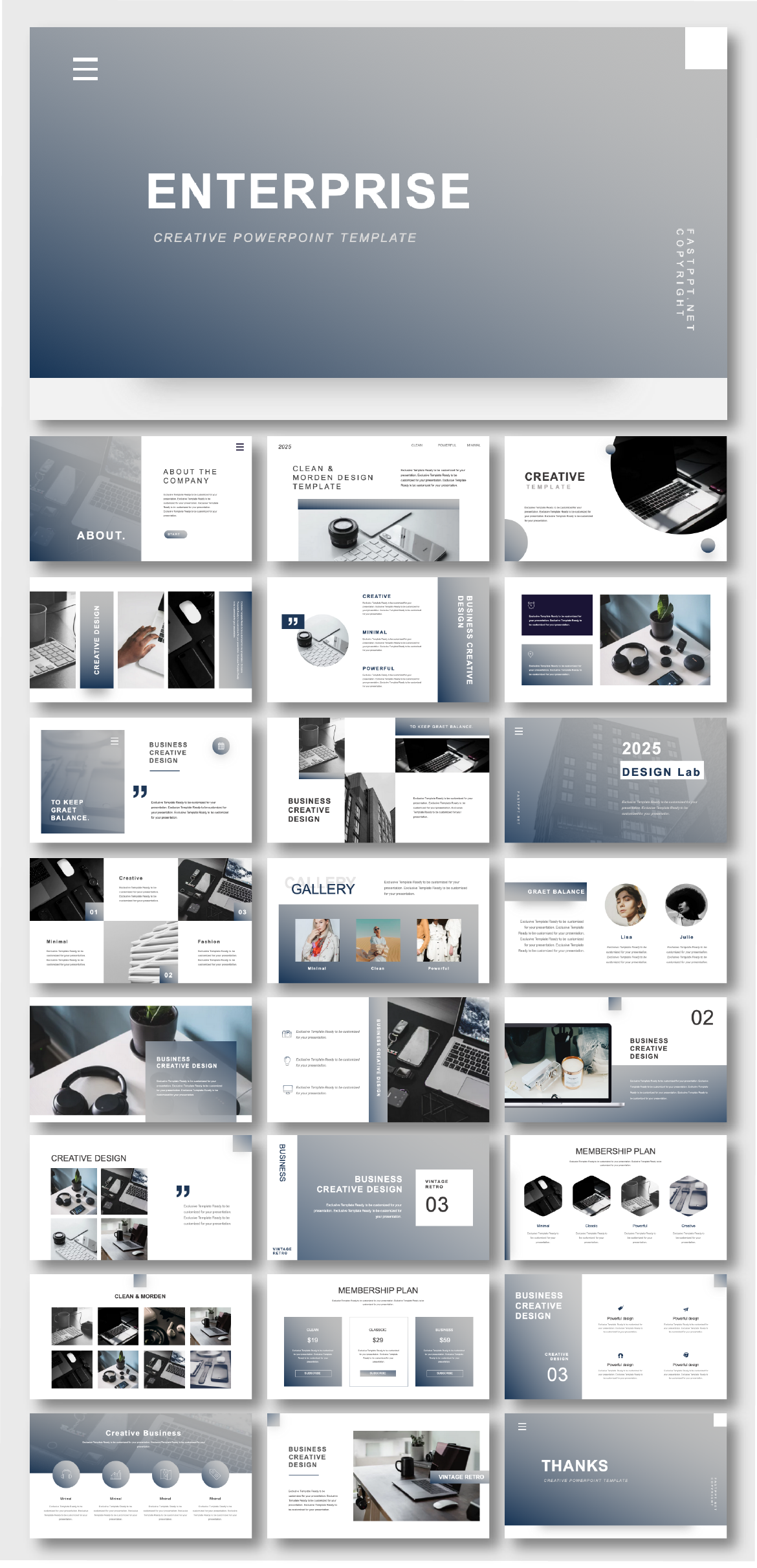 2 In 1 Blue Gray Business Presentation Template Original And High Quality Powerpoint Templates Presentation Design Layout Business Presentation Templates Powerpoint Presentation Design