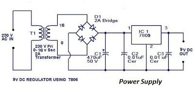 Image result for circuit diagram for 9v adapter (With