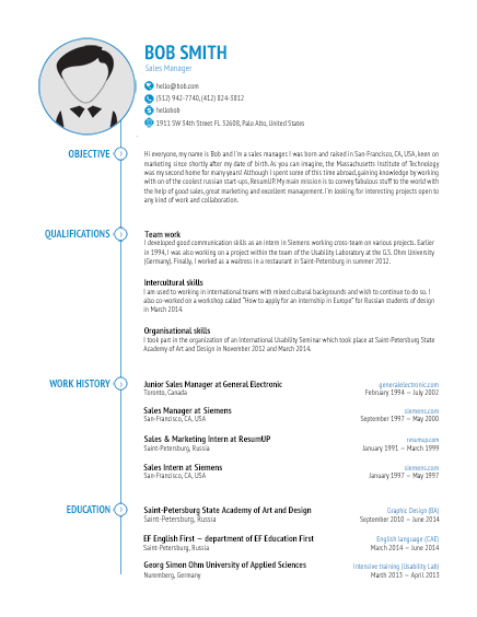 6 example of functional resume