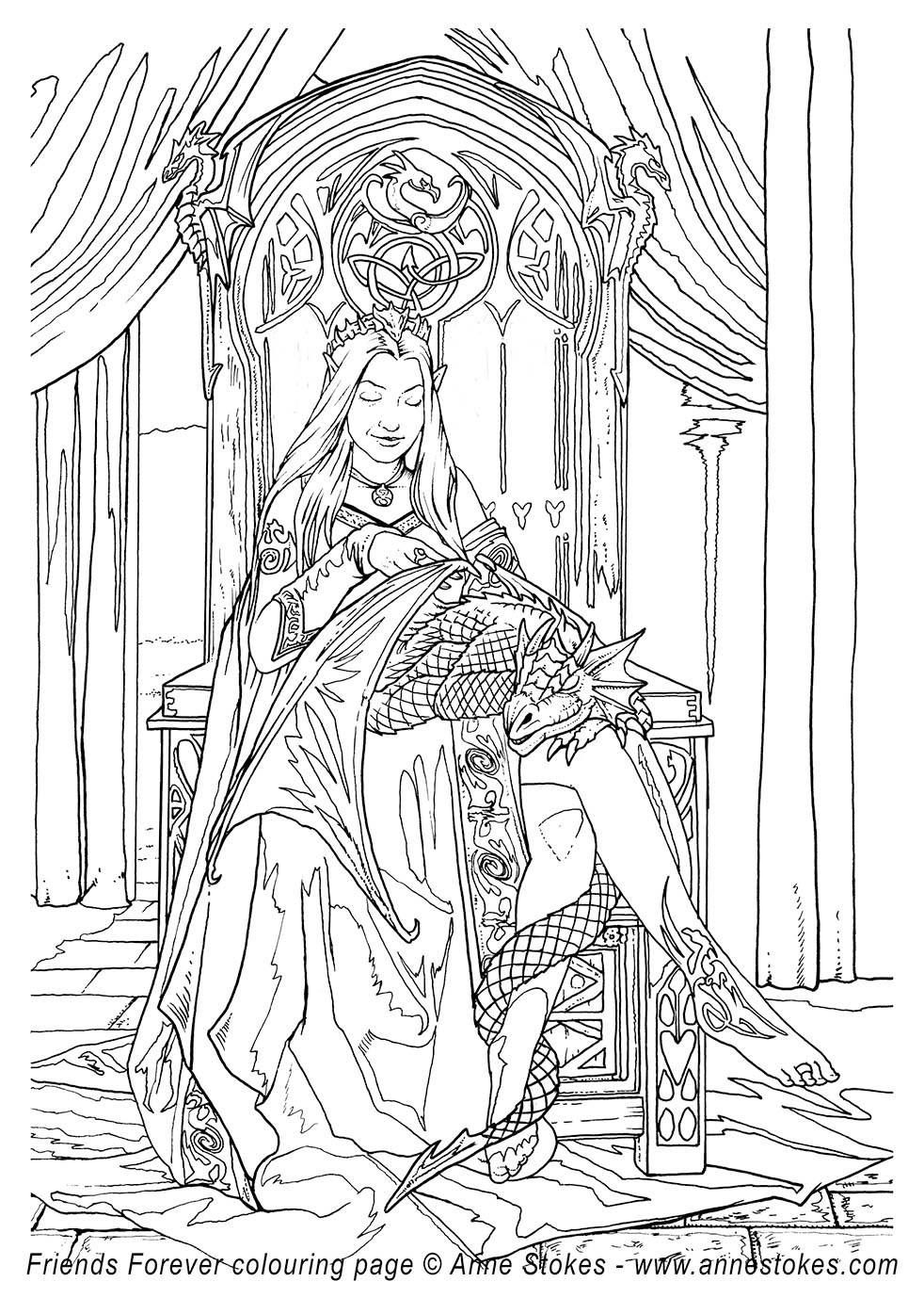 Pin By Coloring Pages For Adults On Fantasy Coloring Pages For