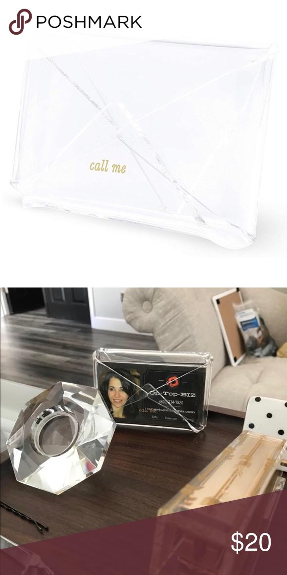 Kate Spade Acrylic Business Card Desk Holder New Kate Spade Kate Spade Bag Spade