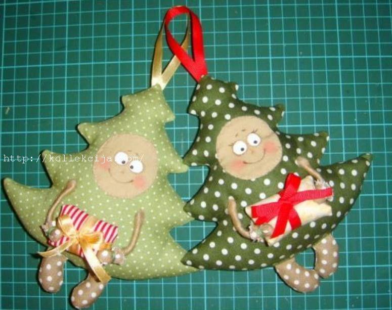 Игрушки на елку своими руками из ткани и выкройки