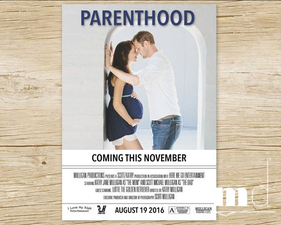 Parenthood Movie Poster Pregnancy Announcement Custom Movie – Etsy Baby Announcements