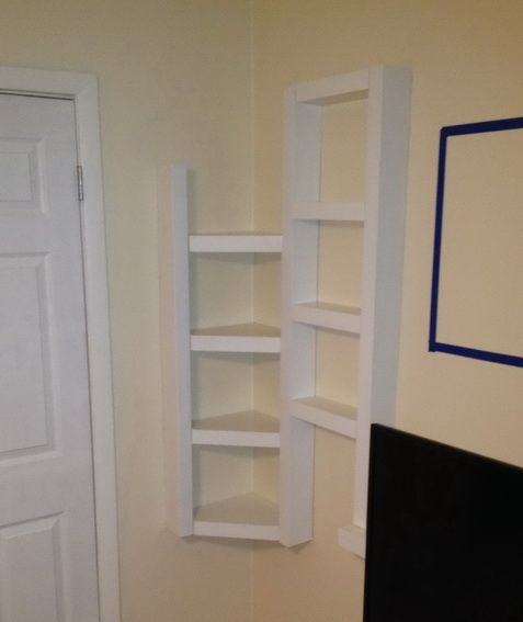 Awesome AWESOME Custom DIY Corner Wall Shelving Project!   How To Build A Simple Corner  Wall