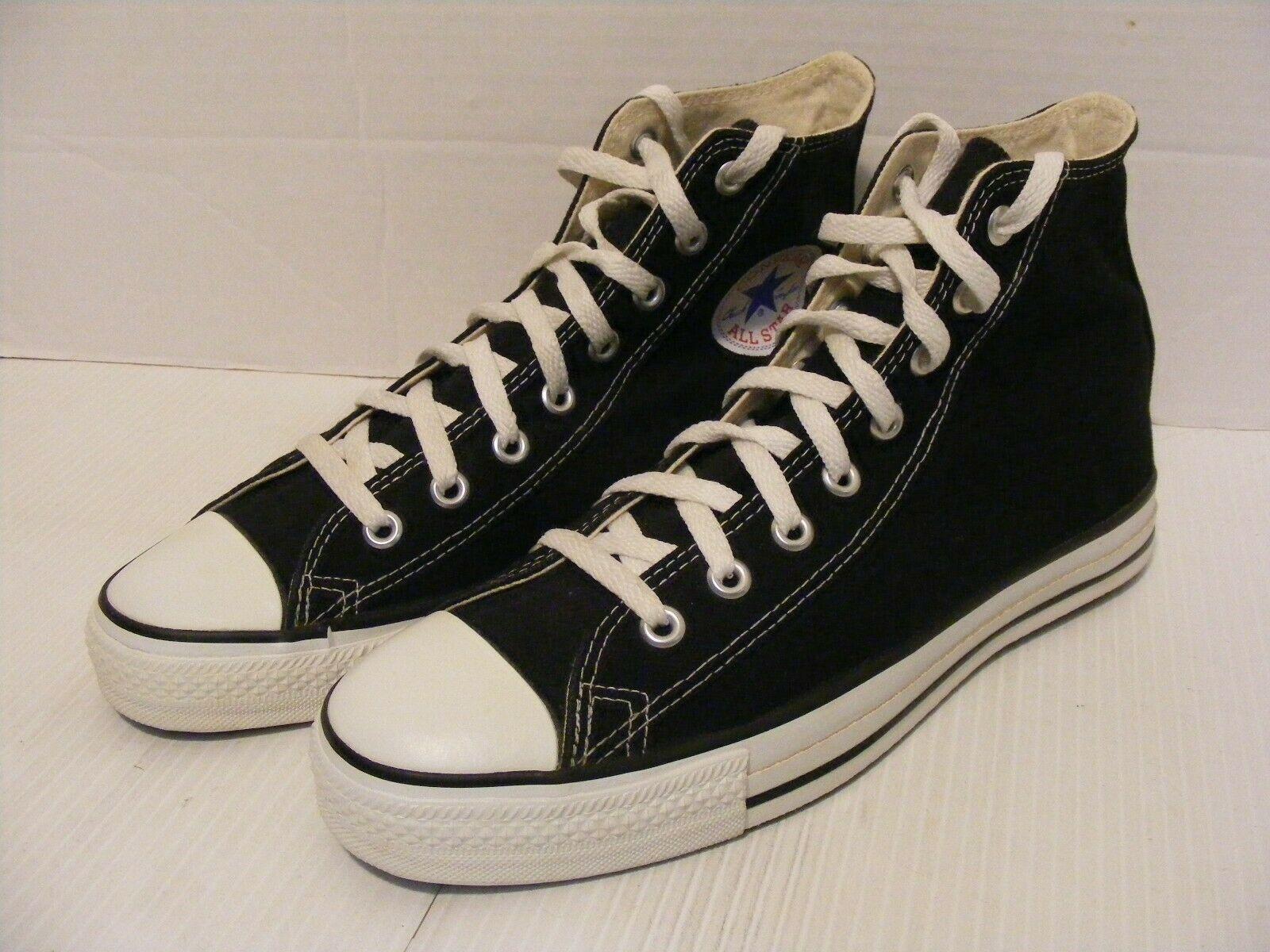 9b160c2df059 VTG Converse Chuck Taylor All Star Black High Top Canvas Shoes SZ 9 USA MADE