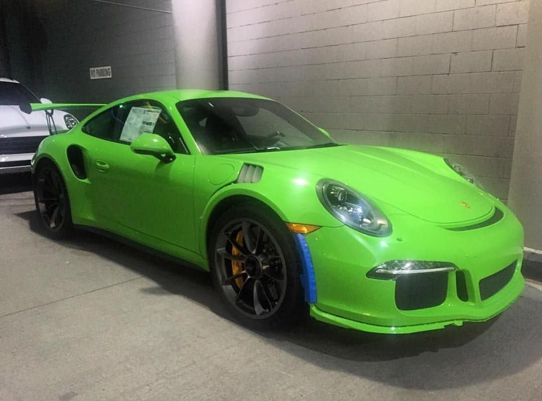 Color car los angeles - One Of The First Pts Gelbgr N Yellow Green 991 Rs S In The World Has Landed At Porsche Of Downtown Los Angeles In California Expect To See More Pts Rs S
