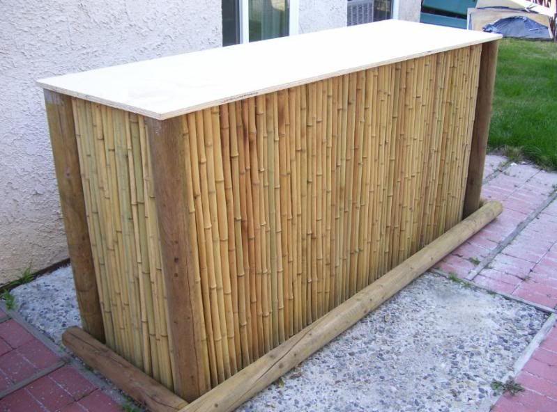 diy garten bar aus rundholz und bambus - Fantastisch Theke Selber Bauen