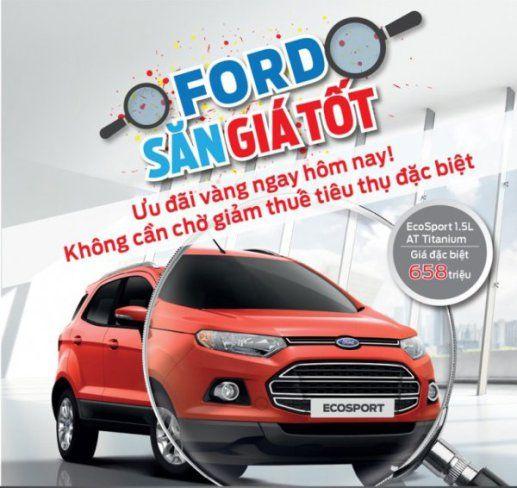 Giá xe Ford Ecosport nhiều ưu đãi xe giao ngay