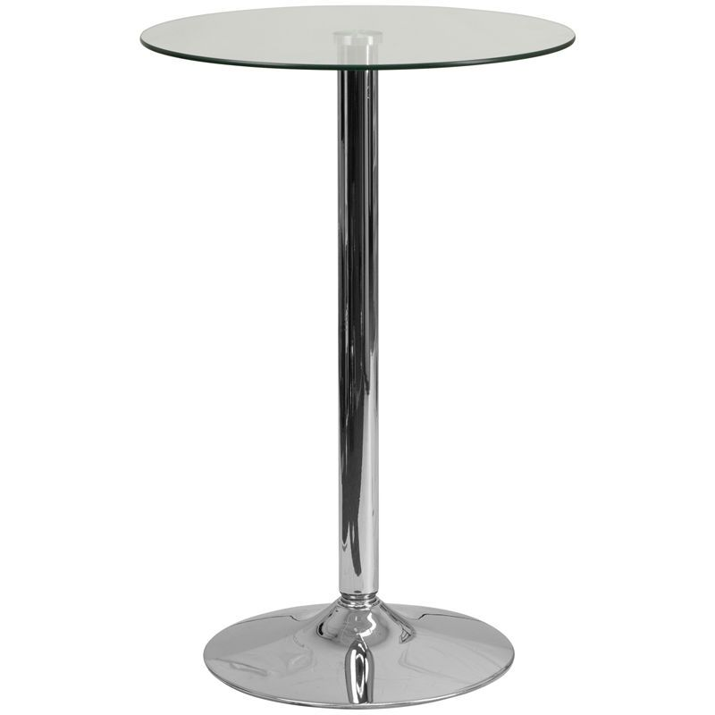 Round Glass Highboy Cocktail Table Tall Round Glass Highboy - Tall round cocktail table