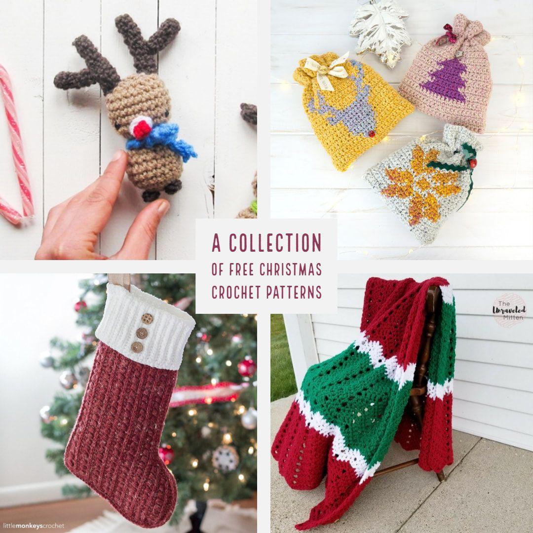 Patrones con temática de Navidad: etiquetas para regalos, Amigurumi ...