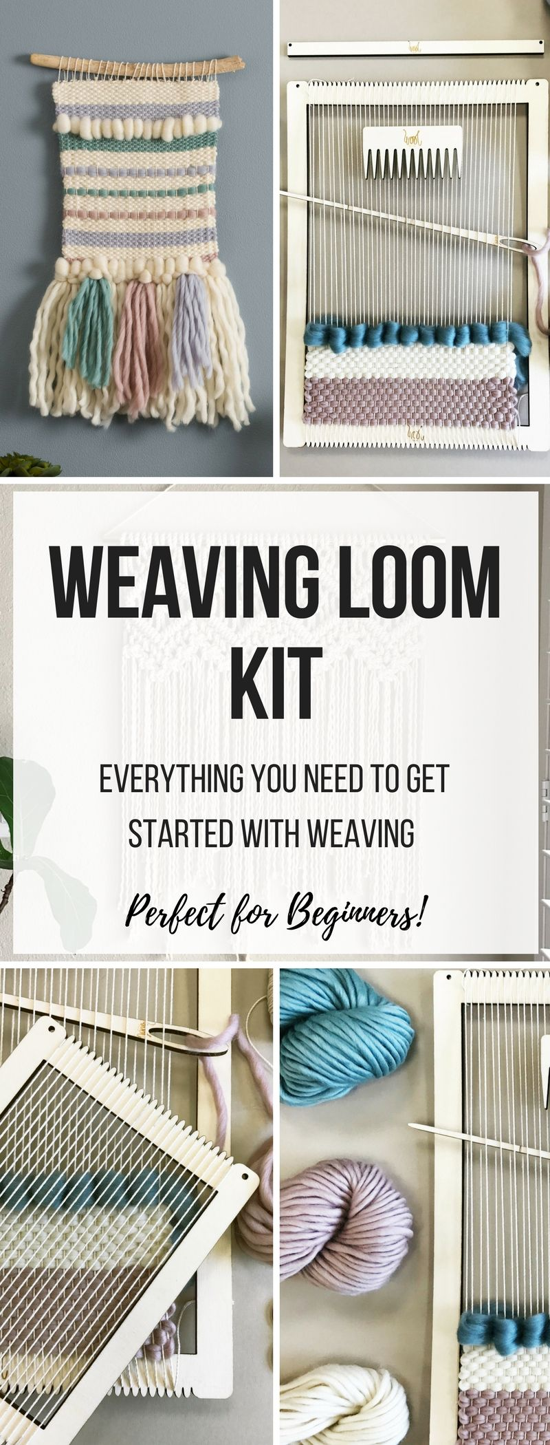 Weaving Loom Kit - Perfect for Beginners! Large lap loom. Learn to ...