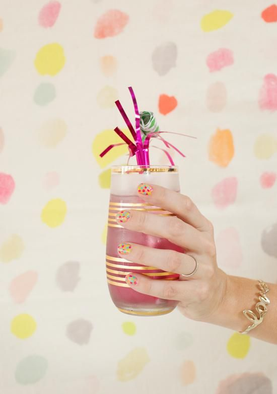 Confetti inspired nails and sparkling homemade sodas!