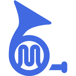 Royal Blue French Horn Icon Free Royal Blue Music Icons Icon Music Icon Blues Music