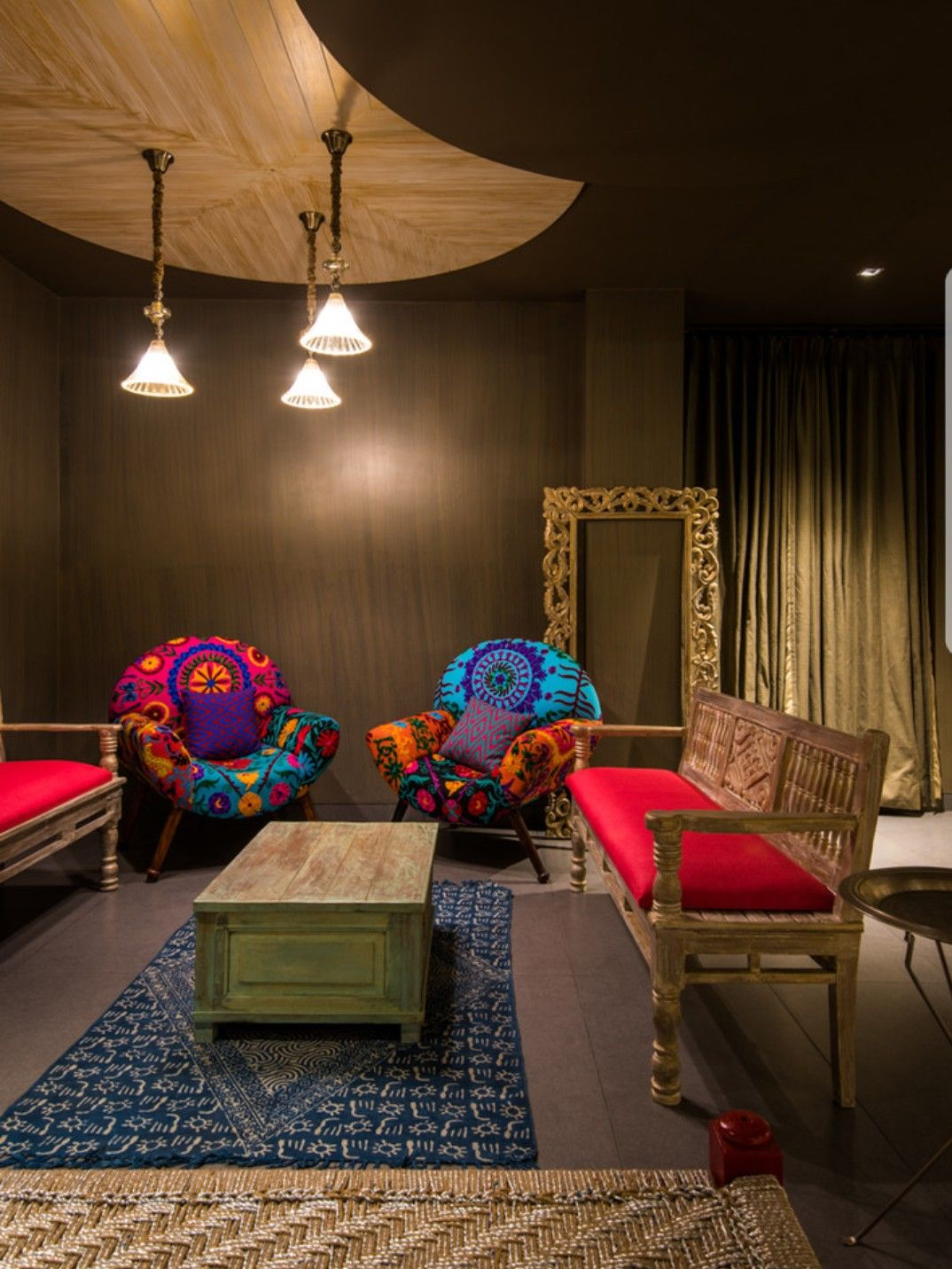 Indian || Eclectic Living room by Shantanu Garg Design # ...