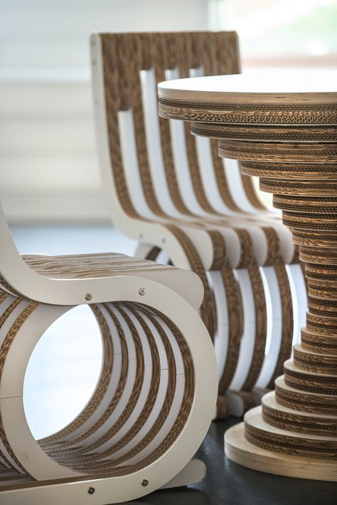 Cardboard Furniture, Hotel Design, Cardboard Table, Cardboard Chair