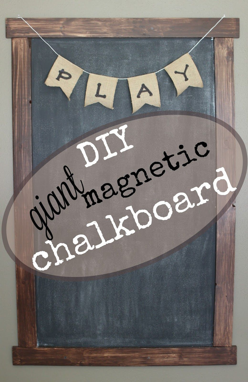 DIY Giant Magnetic Framed Chalkboard | DIY | Pinterest