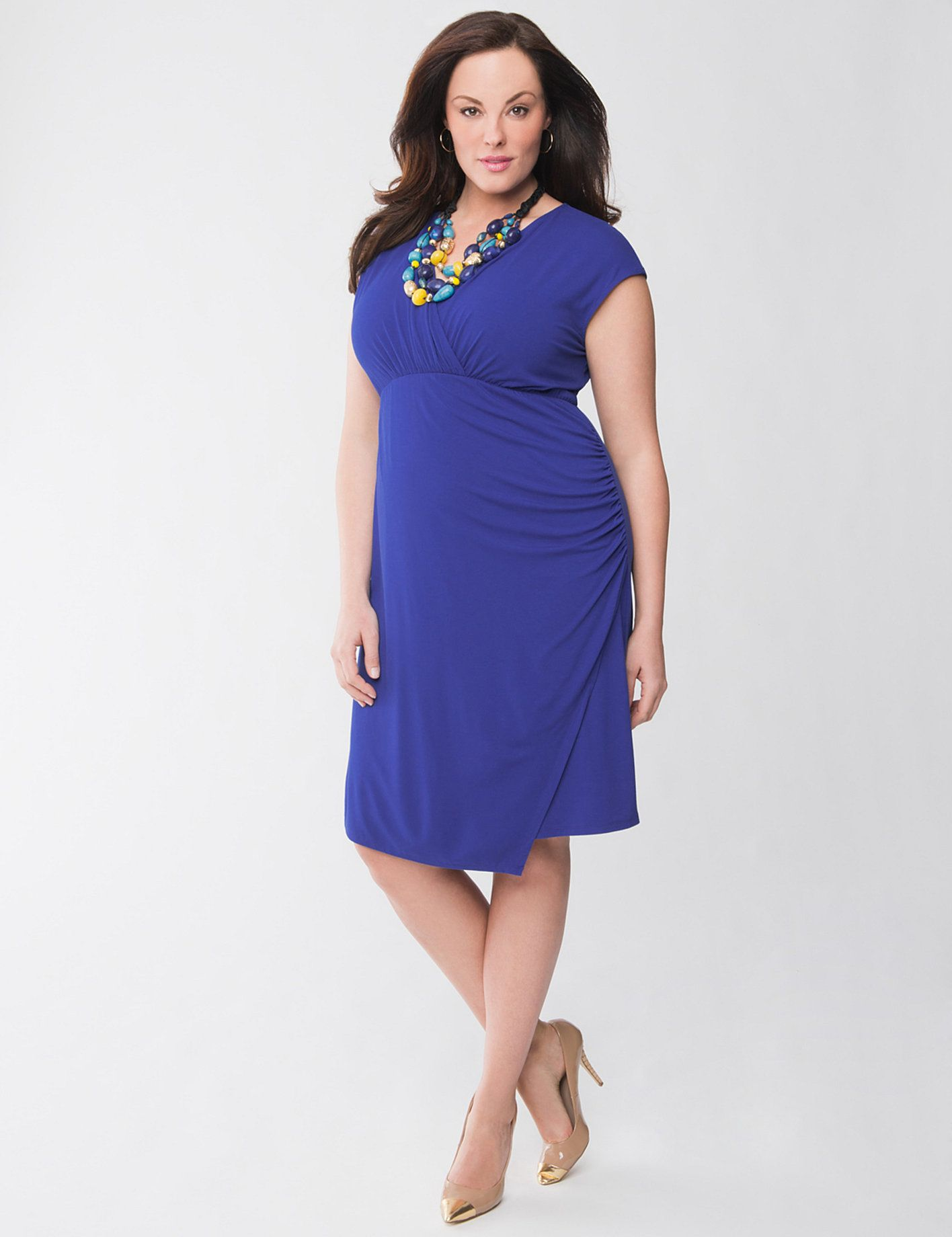 surplice dress from Lane Bryant | My Fashionista Flow | Pinterest