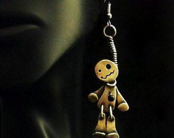 Plata esterlina Joker Marionette marioneta collar por JYLbyPeekaliu