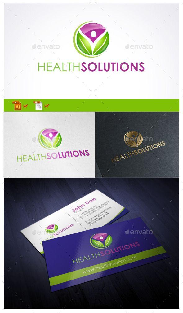 Health Solutions Pinterest Symbol Logo Logo Design Template And