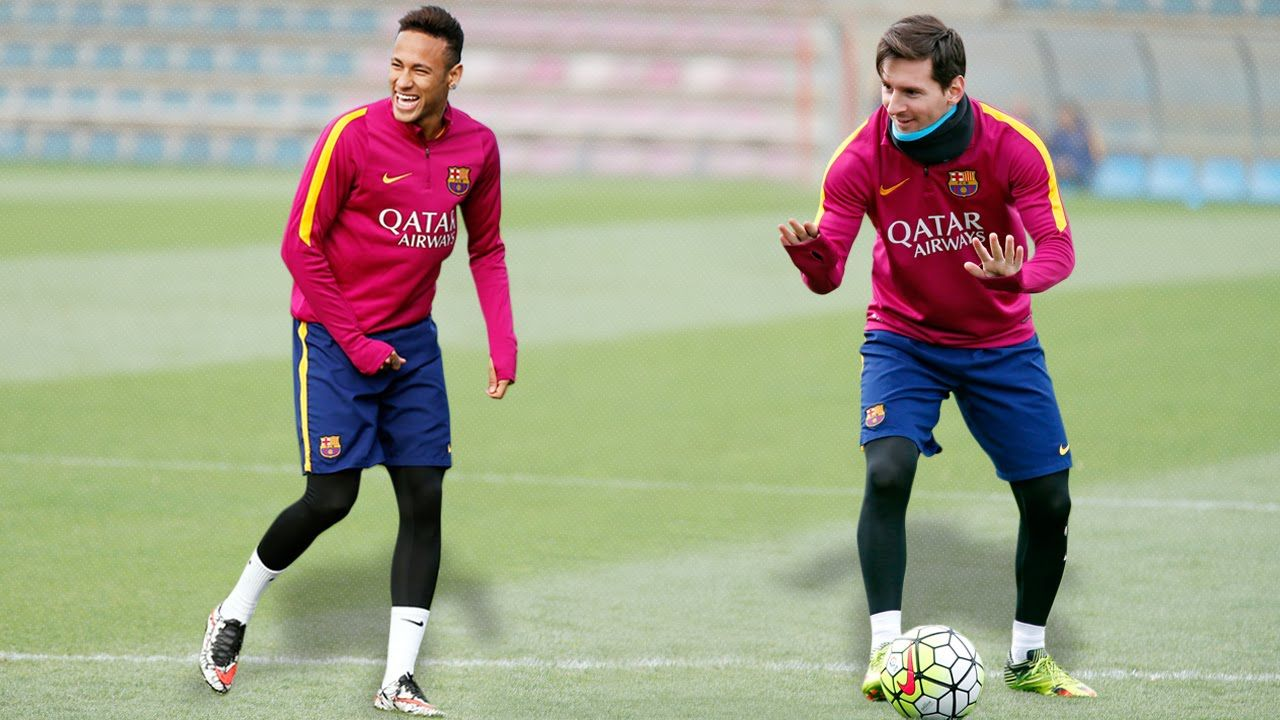Fc barcelona training skills leo messi neymar jr