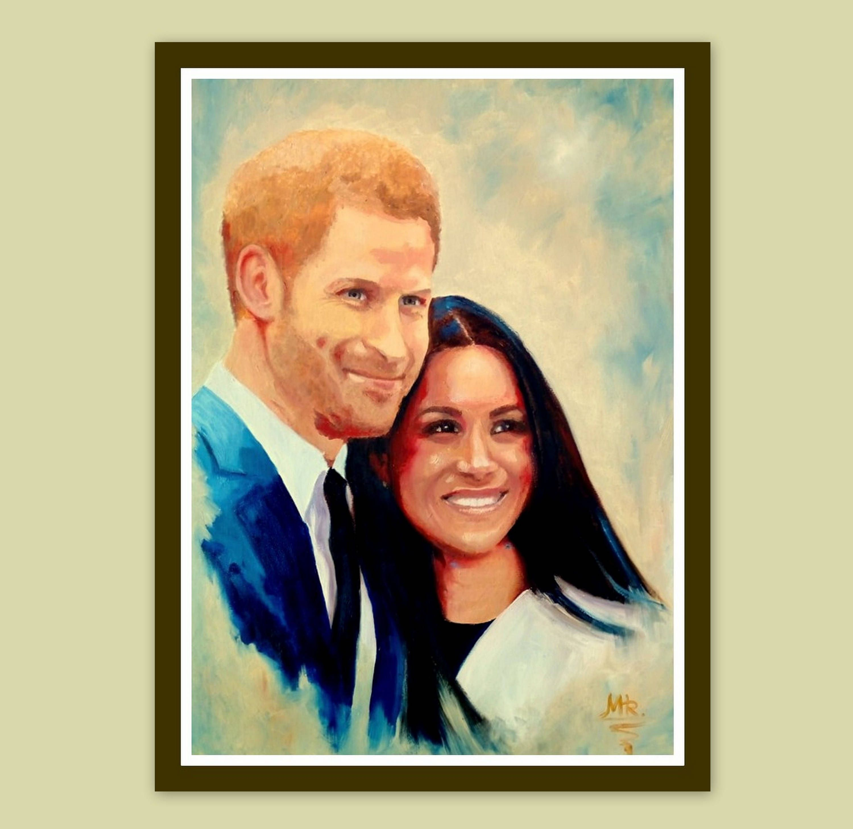 Portrait Oil Painting - Double Custom Portrait - Wedding Family ...