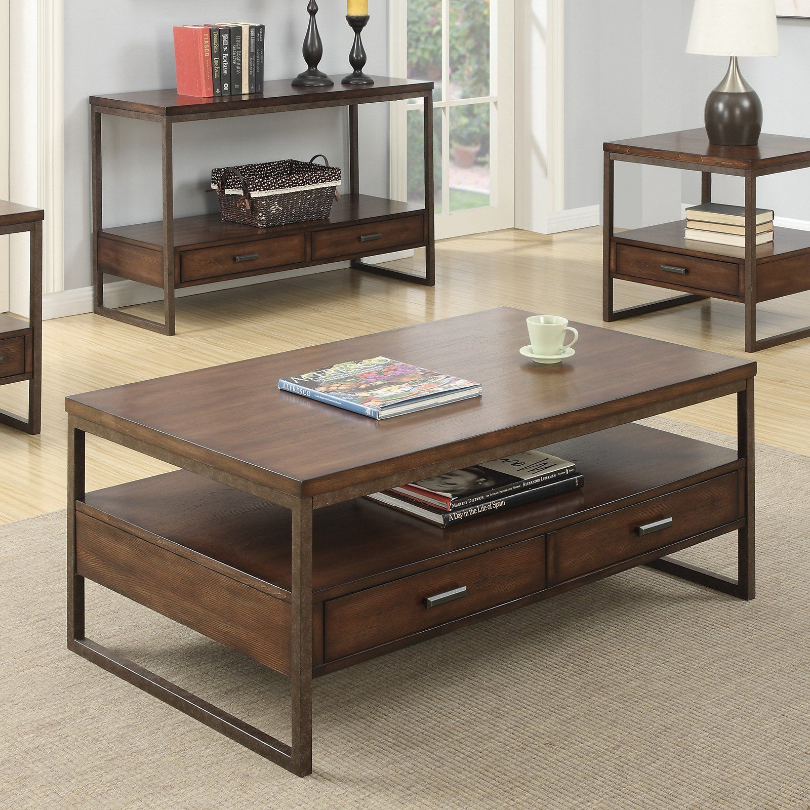 Coaster Furniture Wood Coffee Table With 2 Drawers From Hayneedle Com Coffee Table Home Coffee Tables Furniture [ 1600 x 1600 Pixel ]