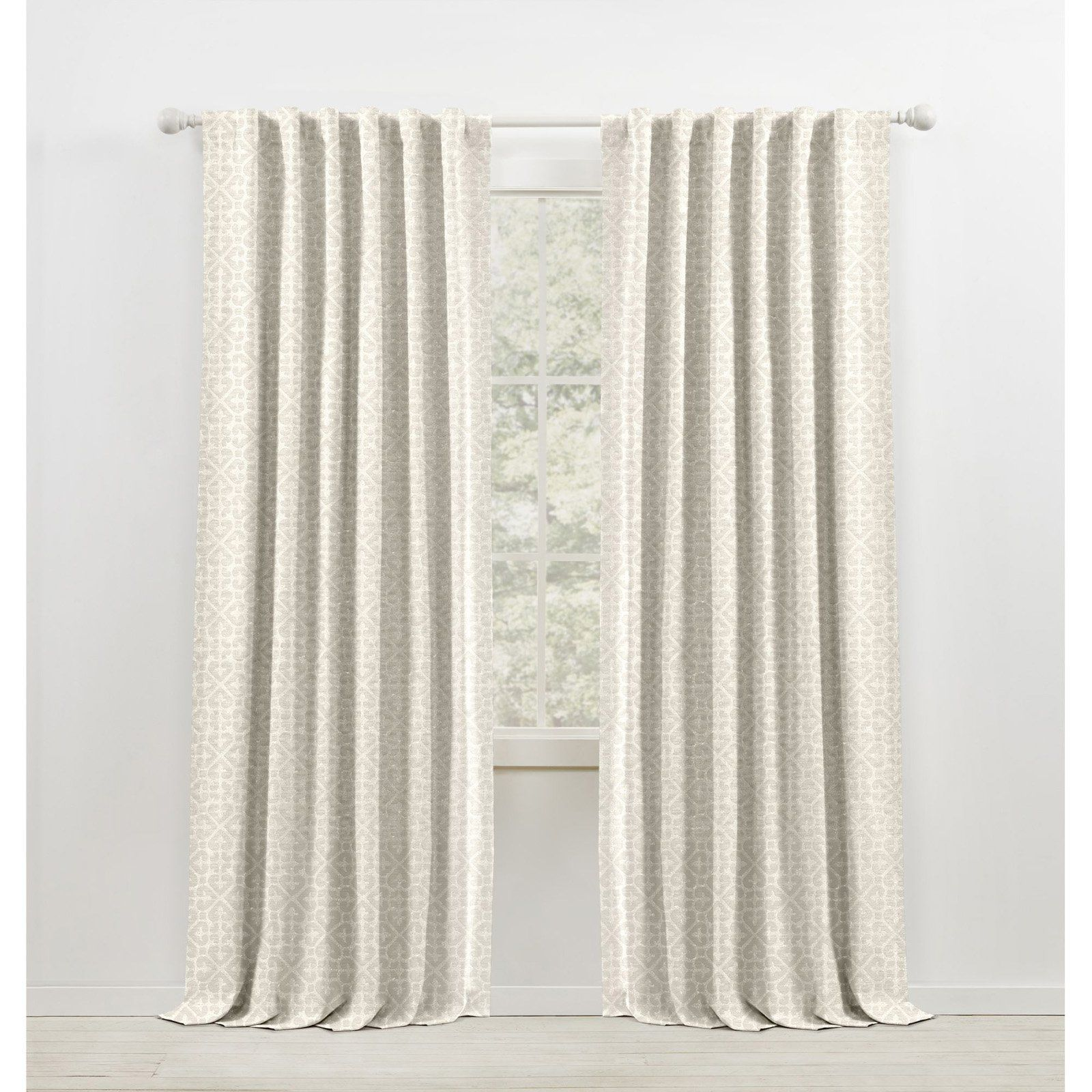 Lauren Ralph Lauren Terrain Blackout Soft Pattern Jacquard Woven With Lining Rod Pocket Curtain Panel Snowflake Rod Pocket Curtains Panel Curtains Colorful Curtains