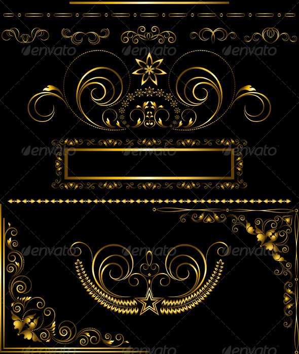 Collection Of Antique Gold Frames And Calligraphic Gold Frame Antique Gold Frame