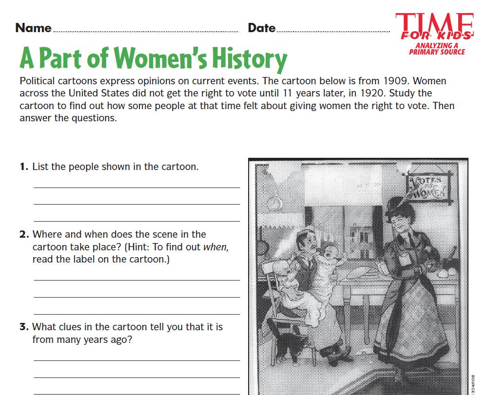Grades 56 students analyze a political cartoon to learn about the – Analyzing Political Cartoons Worksheet