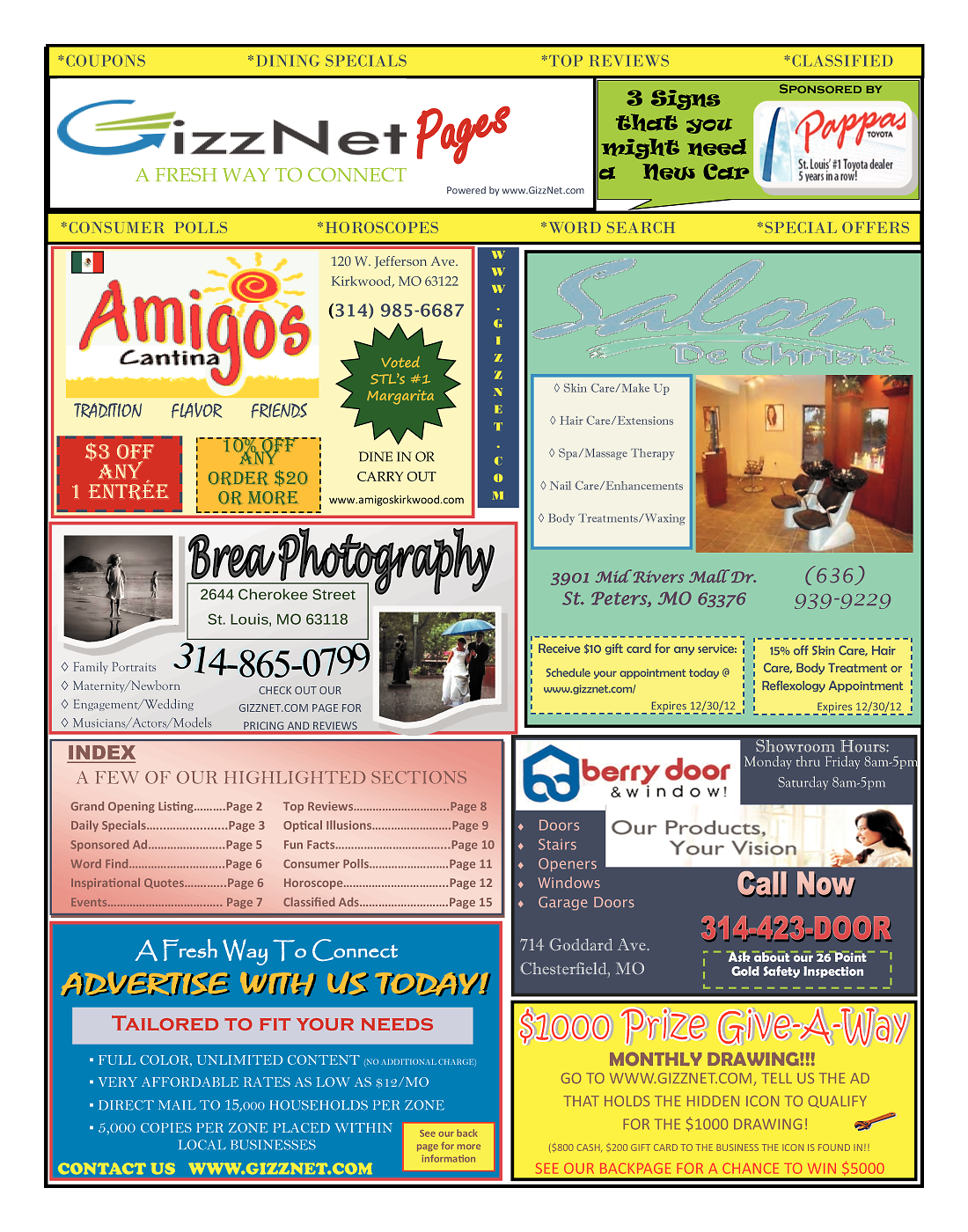 Advertising And Coupons 01 Gizznet Pages 16 Pages, Full Color