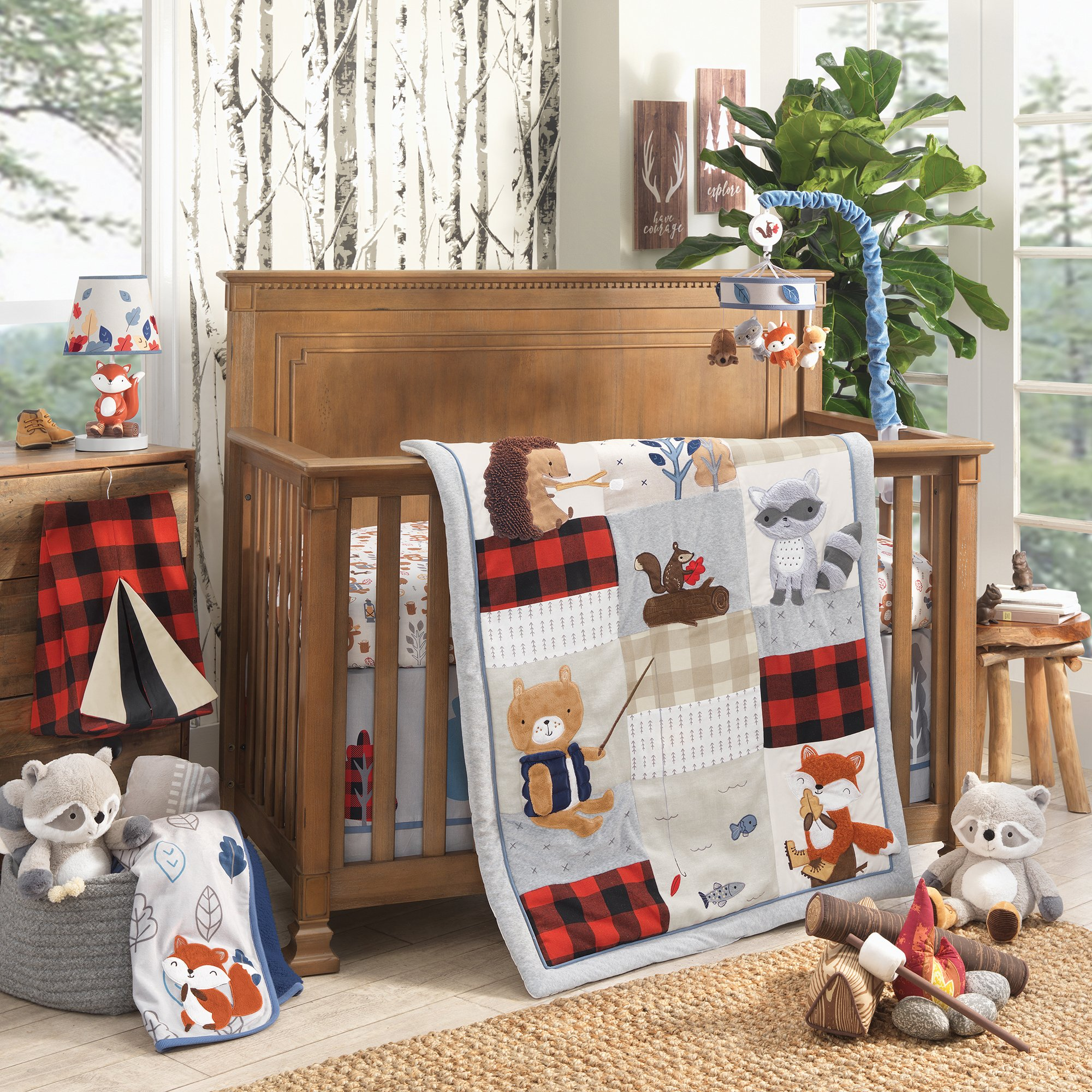 Little Campers 4 Piece Crib Bedding Set By Lambs Ivy Baby Boy Neutral Woodland