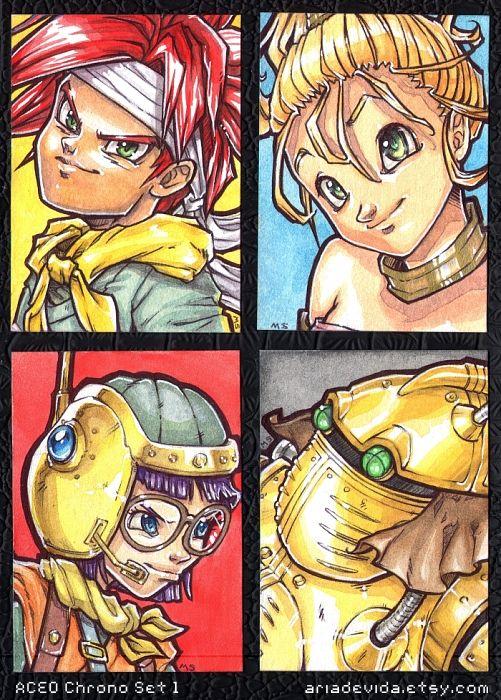 Chrono Trigger ACEO Set 01 by MandarinSwift.deviantart.com on @deviantART