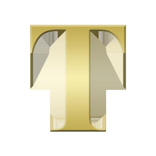 Buchstabe Letter T Lettering Alphabet Gold