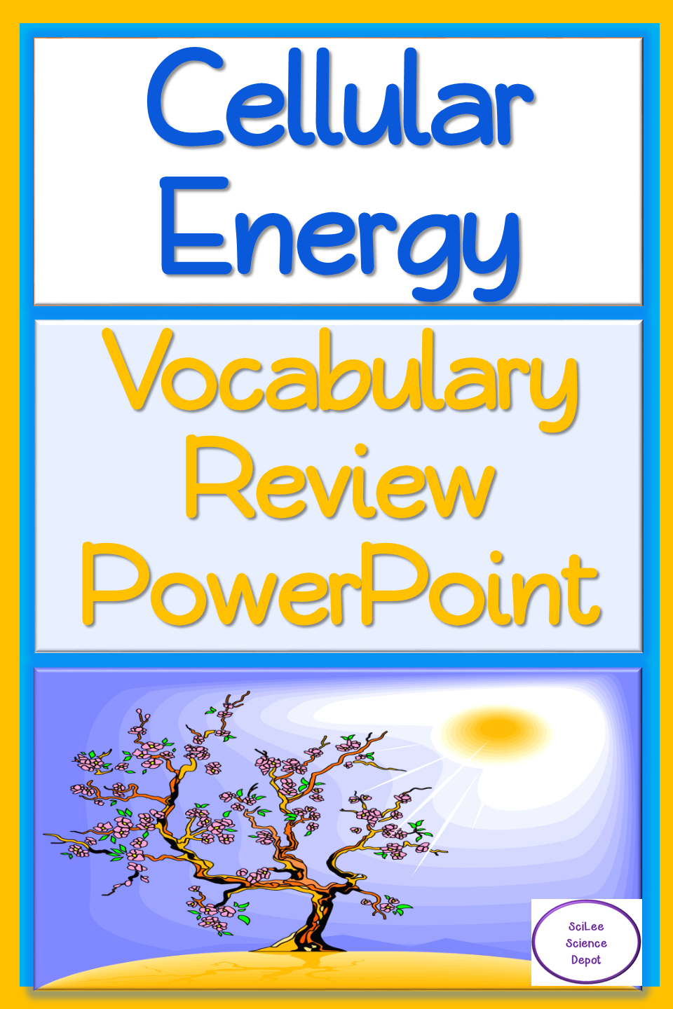Cellular Energy Vocabulary Review PowerPoint Vocabulary