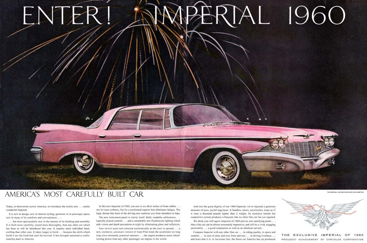 1959 Chrysler Imperial Metal Sign Vintage Look Reproduction 2