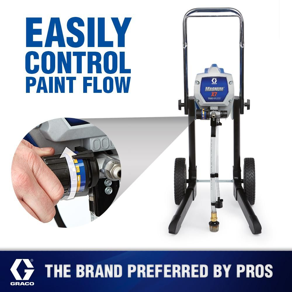 Graco X7 Airless Paint Sprayer With 20 In Tip Extension 25m502 Best Paint Sprayer Paint Sprayer Sprayers