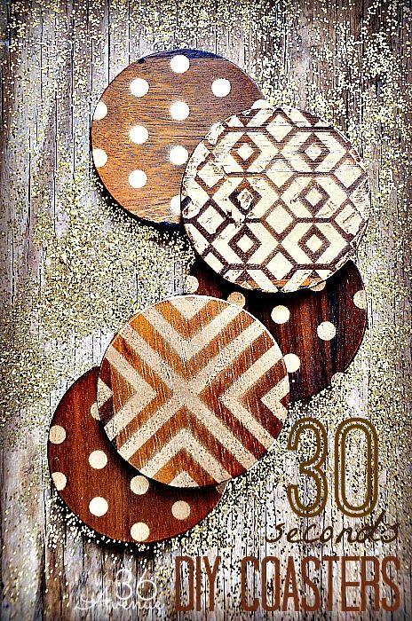 Diy Wood Coasters Tutorial Diy Coasters Crafts Craft Projects