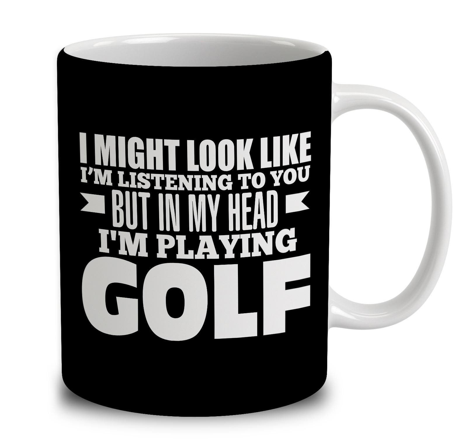 In my head im playing golf play golf how to do yoga