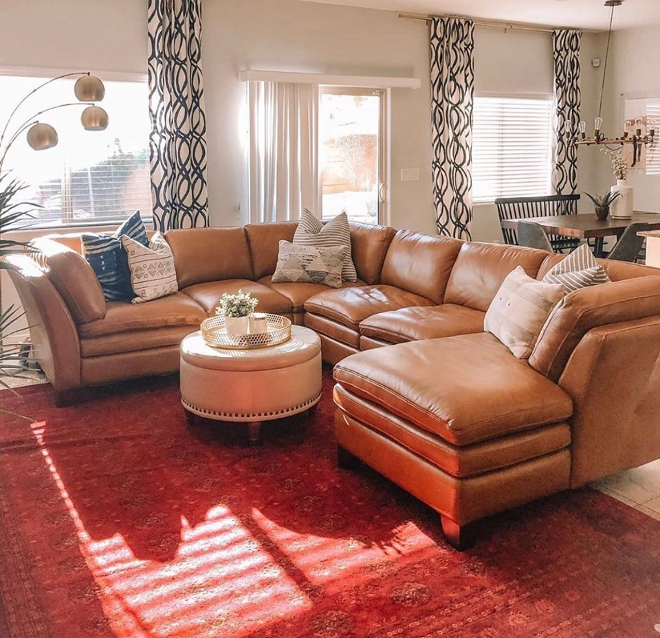 There Is No Place Like Home Life Of A Sister Thank You For Sharing Your Brown Living Room Decor Leather Couches Living Room Leather Sectional Living Room