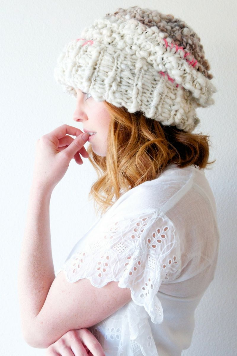 Boho Fable Hat Pattern | Easy knitting, Slouchy hat and Chunky yarn
