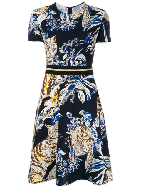 Stella Mccartney Cat Print A Line Dress In Browns From The World S Best Independent Boutiques At Farfetch 400 One Address