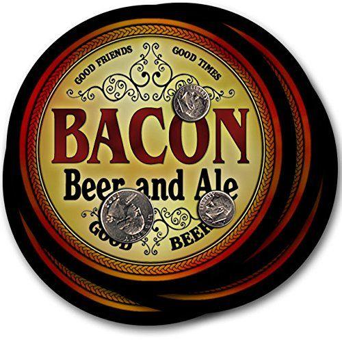 Bacon Beer & Ale - 4 pack Drink Coasters ZuWEE…