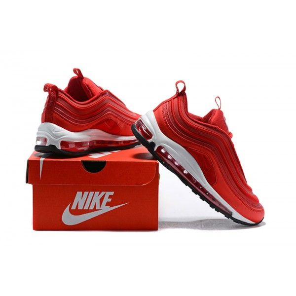 Nike Air Max 97 OG Red White Sneakers   Nike air max 97, Nike air ...