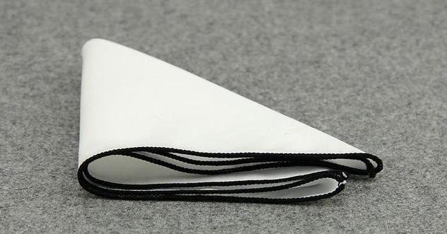 RBOCOTT White Pocket Squares Solid Color Handkerchief 14 Colors Cotton Hanky 23*23cm For Men Wedding Business Accessories #pocketsquares